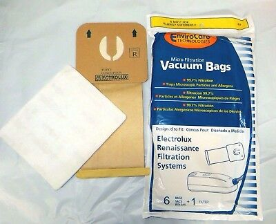 18 Electrolux Renaissance Canister Vacuum Cleaner Style R filter Bags 9000 8000