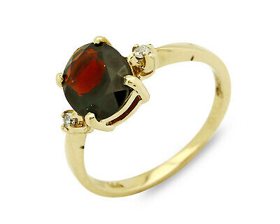 Women's 3 Stone Diamond Ruby 2.68 tcw Natural Mined Ring 14k SOLID Gold 3 Stone Ruby Diamond