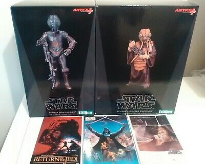 Kotobukiya Star Wars Bounty Hunter 4-Lom Artfx+ Zuckuss bounty Hunter +postcards