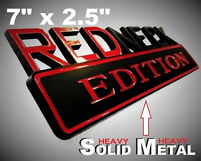 SOLID METAL Redneck Edition BEAUTIFUL EMBLEM GMC 1500 Truck Tailgate Lid Logo