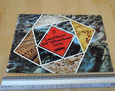 "Land Rover 109"" Wheel Long Bas Sales Brochure 1974"