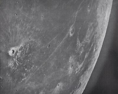 1960 Lunar Moon Map Photo F3-C Mount Wilson Observatory Plate W173  Astonomy