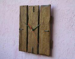 Rustic Reclaimed Wood Wall Clock, Farmhouse decor,Natural oak