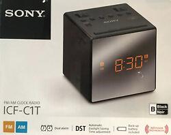 Sony ICF-C1T AM/FM Dual Alarm Clock Radio, ICFC1T Black