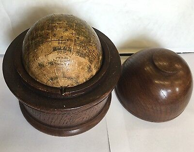 Die Erde The Earth Pocket / Miniature Globe By C Abel Klinger Kunsthandlung 3""