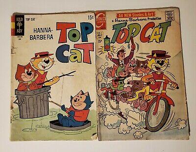 Hanna-Barbera Top Cat Lot of 2 Vintage Comic Books 1969 1971