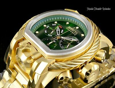 52MM Invicta Reserve Bolt Zeus MAGNUM Swiss Dual Movement 18K Gold Tone Watch