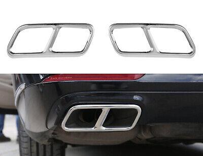 2x Chrom Auspuffblenden Edelstahl Abdeckung Auspuff Mercedes W222 W176 C216 C217