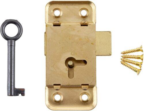 Large Flush Mount Lock w/Skeleton Key for Left or Right Hand Cabinet Door