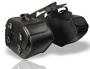 MOTORRAD LEDER SATTELTASCHEN ( 1 PAAR) Gepäcktaschen SATTELTASCHE CHOPPER