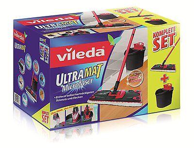 Vileda UltraMat Komplett-Set, Bodenwischer und Eimer mit PowerPresse NEU & OVP