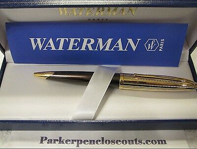 WATERMAN CARENE SPECIAL EDITION AMETHYST BRONZE BALL POINT PEN NEW in BOX