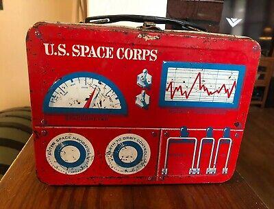 VANGUARD IV  1961 Thermos & UNIVERSAL U.S. Space Corps Metal  Lunchbox