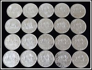1966 Roll of Canadian Dollar Coins BU/Mint State 80% Silver