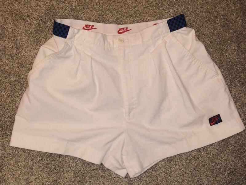 Vintage 90s Nike Mens White Shorts Size 32 Rare