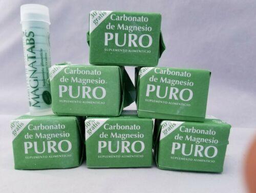 (6)Carbonato de Magnesio PURO  BLOCKS Magnesium Carbonate SUPLEMENTO ALIMENTICIO
