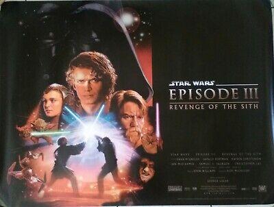 original star wars Revenge of the Sith Episode 3 uk Quad poster