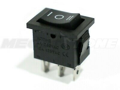 1pc Spdt Mini Rocker Switch Momentary On-off-on Kcd1 6a250vac - Usa Seller