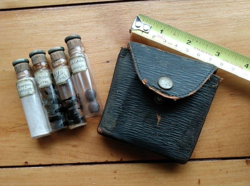 Antique Travel Medical Apothecary Medicines Kit in Original Case