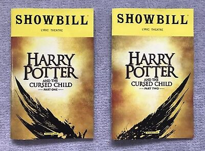 Harry Potter   The Cursed Child Playbill Bundle   Broadway Parts 1 And 2