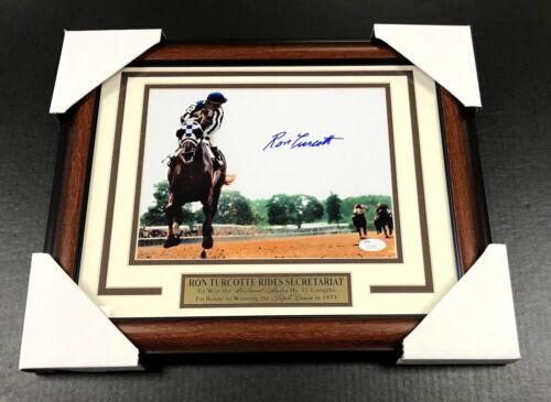 Secretariat Ron Turcotte Framed Autographed 8x10 Phototriple Crown Jsa Coa