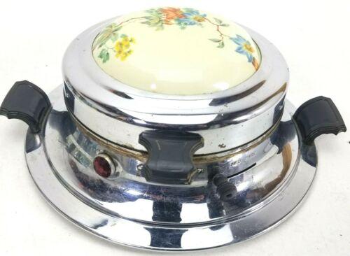 Vintage Landers Frary&Clark UNIVERSAL Waffle Maker 74240 Decorative PorcelainTop