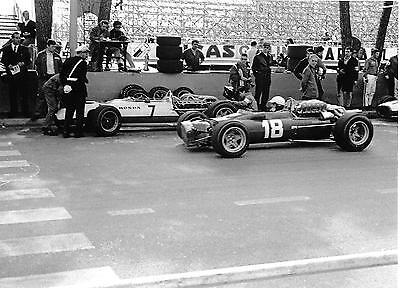 LORENZO BANDINI FERRARI 312 VERY RARE 2 PHOTOGRAPH FOTO MONACO GRAND PRIX 1967