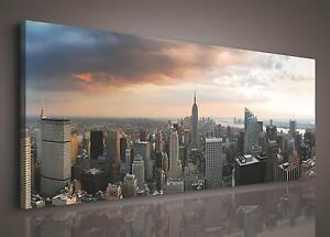 CANVAS PRINT PHOTO PICTURE (PP155O3) 145x45cm New York City Urban