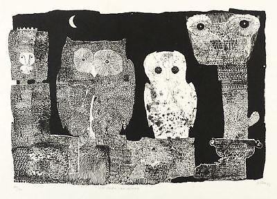 Kunst Von Gott (ALFRED TRAUGOTT MÖRSTEDT - DIE EULEN VON ATHEN - Lithografie 1973)