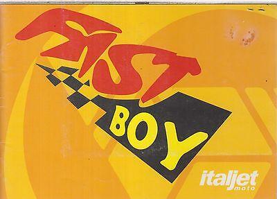 ITALJET 50cc ' FAST BOY 501 ' ORIGINAL 1997 OWNERS INSTRUCTION HANDBOOK