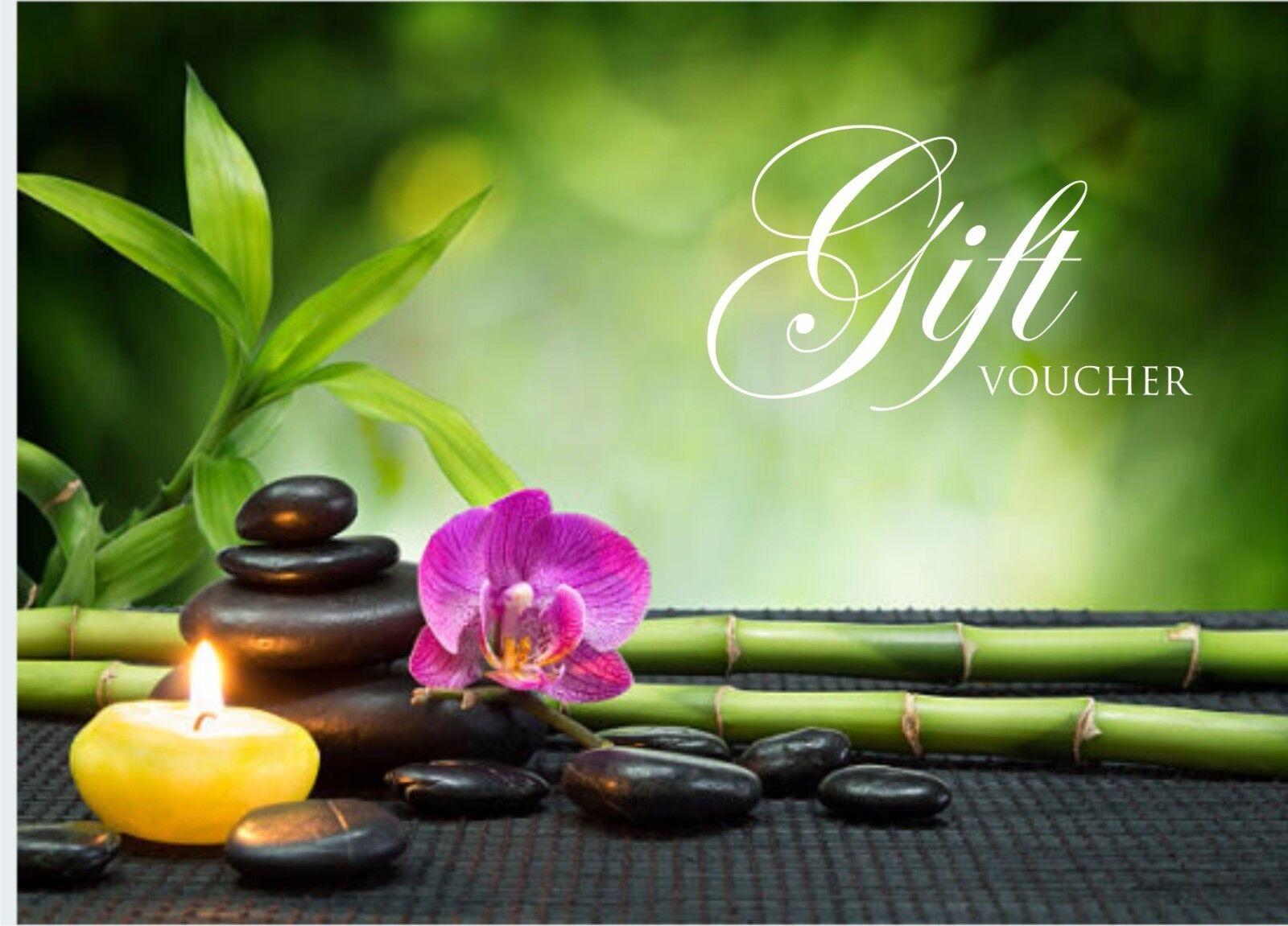 Beauty Salon Gift Vouch Template Blank Card Nail Massage Free