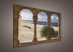CANVAS PRINT PHOTO PICTURE (PP263O1) 100x75cm Beach Sea Sand Landscape