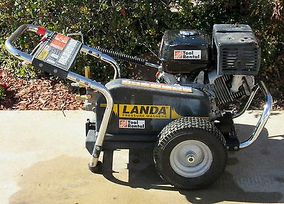 Used Landa Pg4-353245 Gas Engine Cold Water Pressure Washer Sn146934