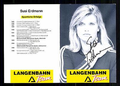 Susi Erdmann Autogrammkarte Original Signiert Rodeln +A 188164