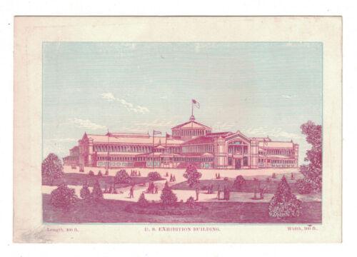 """1876 Centennial Exhibition Card - US Exhibition Building  5 3/8"""" x 4 3/8"""""""