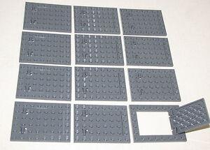 LEGO-LOT-OF-12-DARK-BLUISH-GREY-TRAP-DOOR-CASTLE-NINJA-PIECES