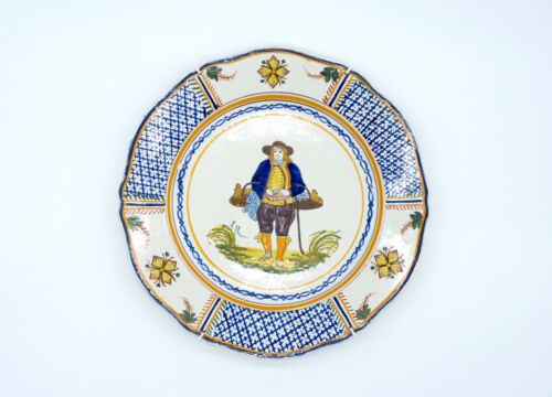 Antique Henriot Quimper Pottery Wall Plate