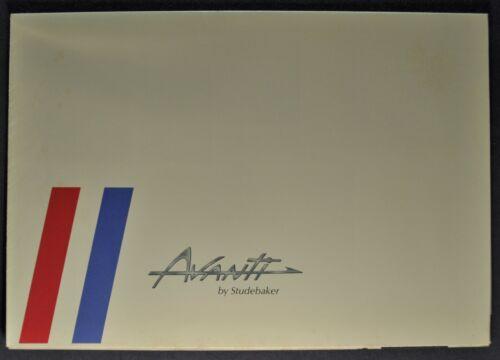 1963 Studebaker Avanti Sales Brochure Folder Excellent Original 63