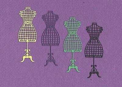 DRESS FORM 3 sewing die cuts scrapbook (Dress Form Die Cuts)