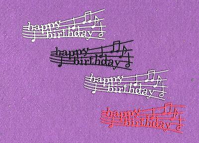 HAPPY BIRTHDAY MUSIC die cuts scrapbook cards