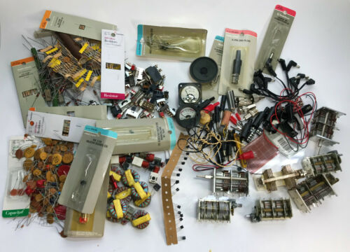 VTG Electronic Component Capacitor Resistor Transistor Switch Diodes & Stuff Lot