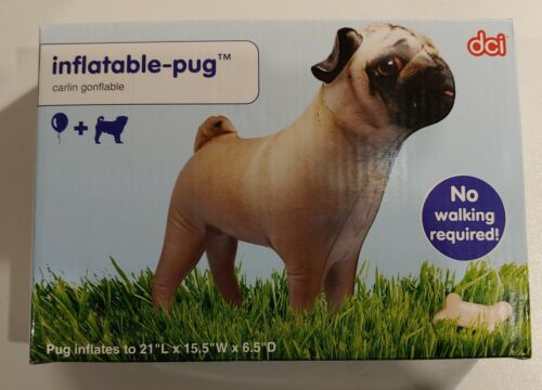 """Inflatable PUG Dog (Carlin Gonflable) 21"""" LONG - BRAND NEW"""