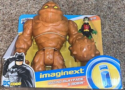 Fisher Price Imaginext DC Oozing Clayface & Robin Brand New