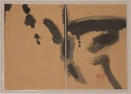Listed Chinese Artist Tang Haiwen, Original Signed Watercolor & Ink