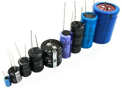 Radial Electrolytic Capacitors 0.1uf To 6800uf 6.3v To 450v - Lot Of 3