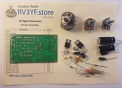 Audio Frequency Af Signal Generator Oscillator. Kit For Assembly.