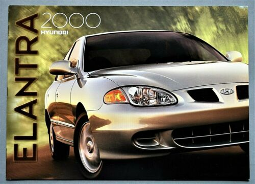 "ORIGINAL 2000 HYUNDAI ELANTRA SALES BROCHURE ~ 16 PAGES ~12.25"" X 8.75"" ~16E"