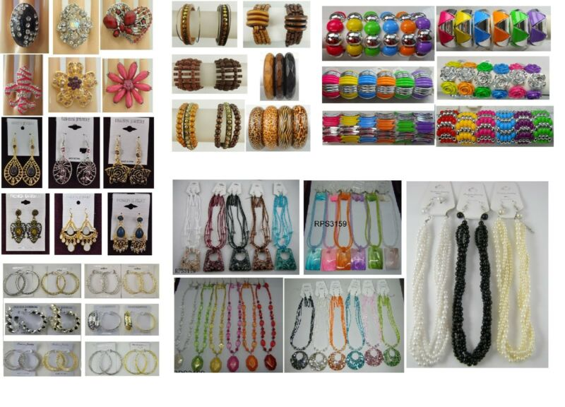 A-24 wholesale lots 100 Pcs Mixed Earrings Bracelets  and Necklaces