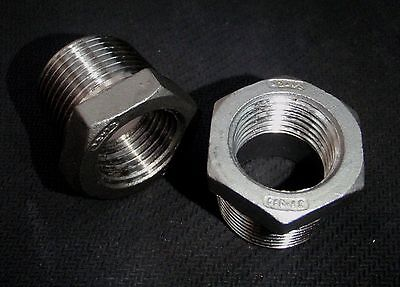 Stainless Steel Bushing Reducer 34 X 12 Npt Pipe Bs-075-050