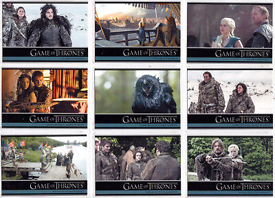 GAME OF THRONES SEASON THREE COMPLETE 98 CARD TRADING CARD SET 2014 RITTENHOUSE